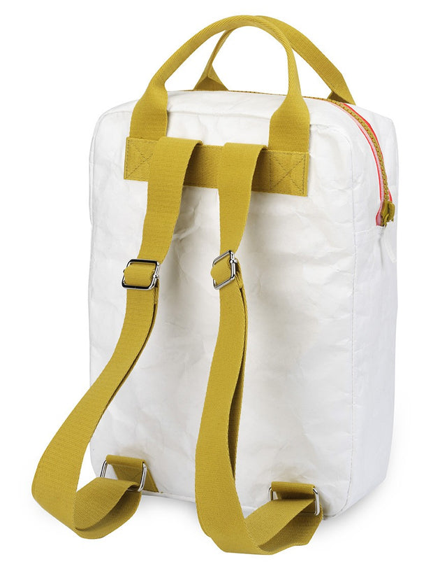 engel enfants grand sac à dos Zipper Tyvek blanc