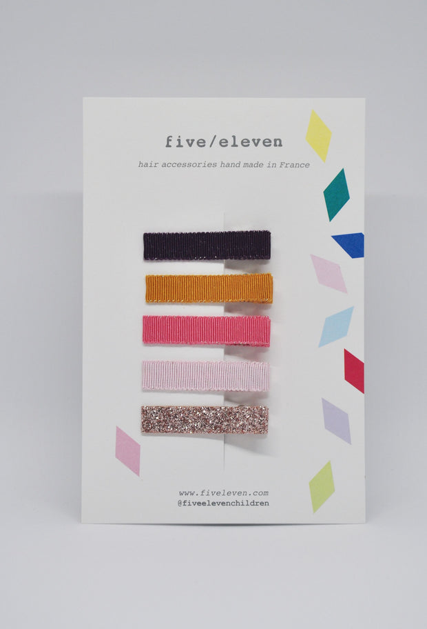 Five/Eleven Set of 5 Flat Hair Clips