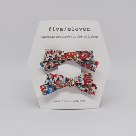 Five/Eleven Liberty Bows hair clips