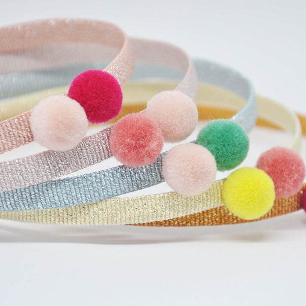 Five/Eleven Pompom Headband for girls