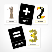 THE JAM TART double sided Animal Numbers Flash Cards