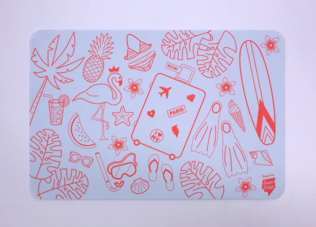 silicone colouring mat