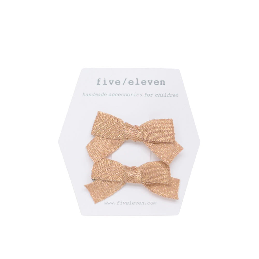 five/eleven Japanese Hair Bows in gold