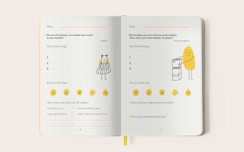 HappySelf Journal Junior Edition - Yellow