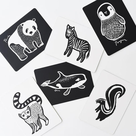 Wee Gallery Art Cards For Baby - Black & White Collection