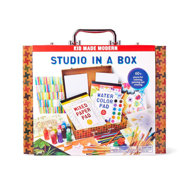 kid made modern studio in a box art supplies set