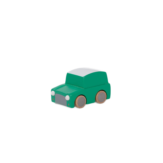 Kiko & gg Kuruma wooden pull back Car Green
