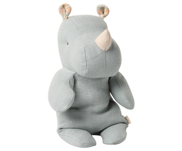 Maileg Small Rhino Safari Friend - Blue/Grey