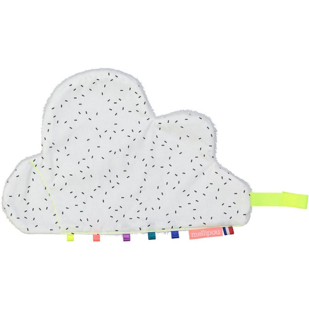 mellipou cloud shape baby comforter in white