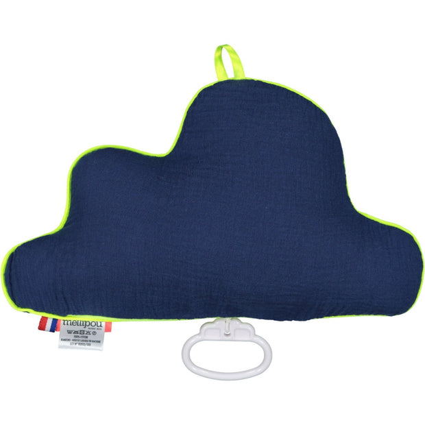 mellipou luminous musical cloud for babies in dark blue