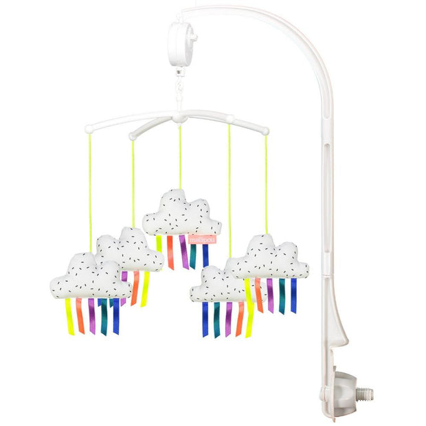 mellipou musical baby crib mobile in white