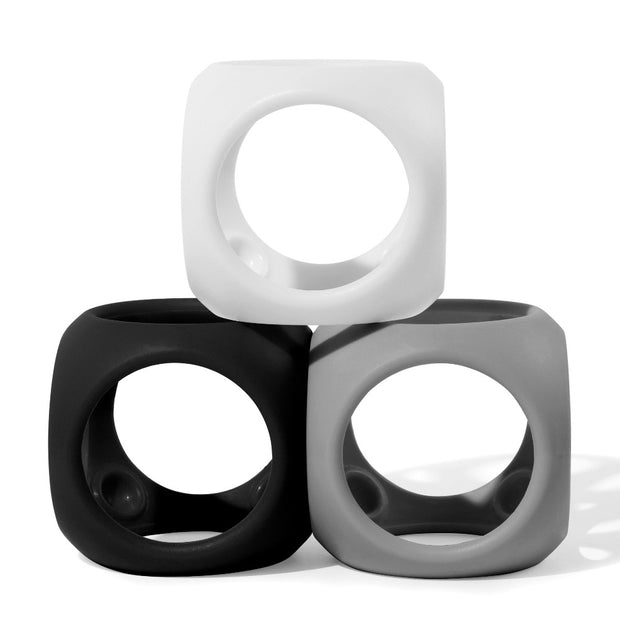 moluk oibo 3 set silicone toy in black white and grey
