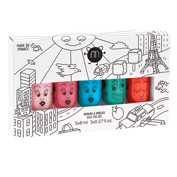 Nailmatic Kids Nail Polish Set of 5 - City