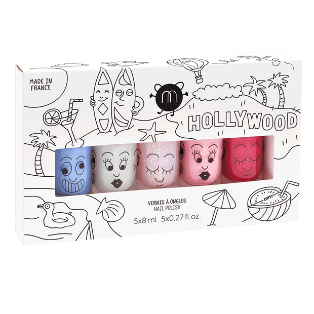 Nailmatic Kids Nail Polish Set of 5 - Hollywood