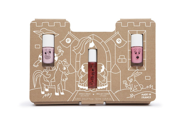 Nailmatic Kids Princess Castle Set of Nail Polish and Lipgloss