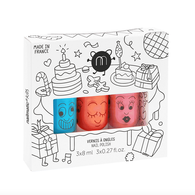 Nailmatic Kids Nail Polish Set of 3 - Party