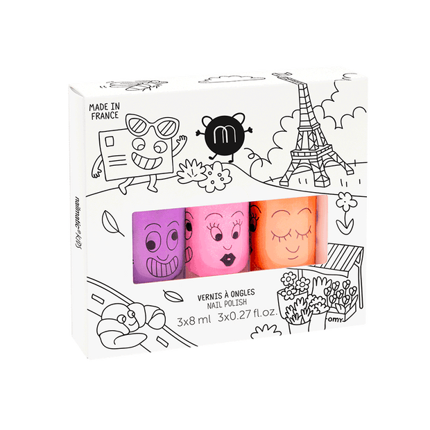 Nailmatic Kids Nail Polish Set of 3 - Paris