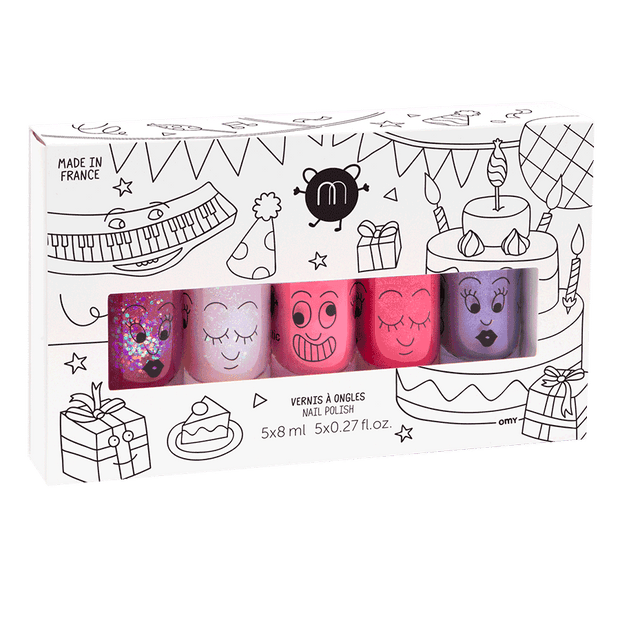 Nailmatic Kids Nail Polish Set of 5 - Party
