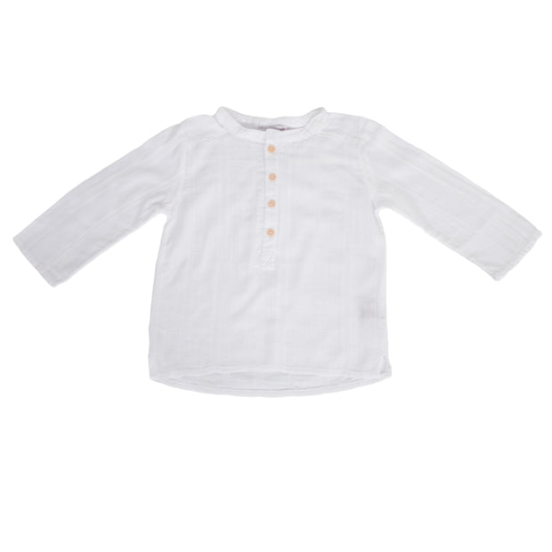sunchild boys Negril white cotton summer shirt