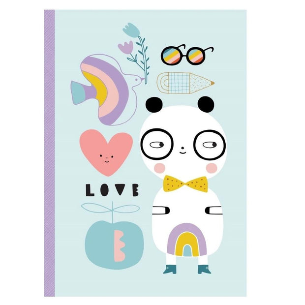 Petit Monkey Notebook - Panda Love