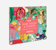 omy giant poster and stickers kids activity fantastic