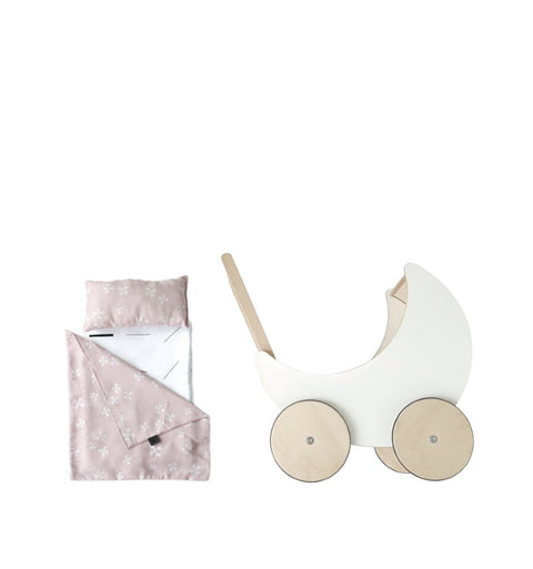 ooh noo wooden toy pram bedding