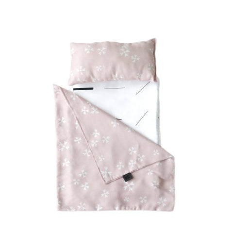 ooh noo troy pram bedding in pink blushing blossoms