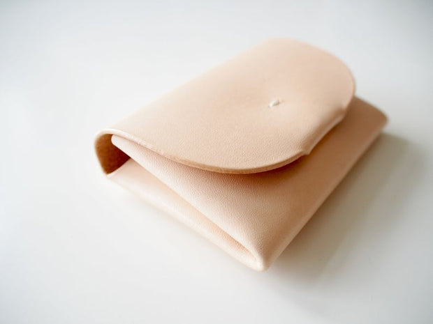 Abokika Origami leather Wallet Nude