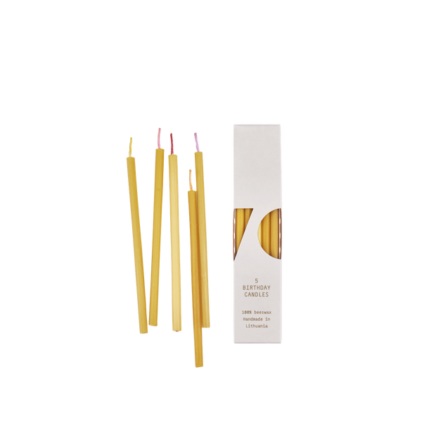 OVO Things 5 Beeswax Birthday Candles