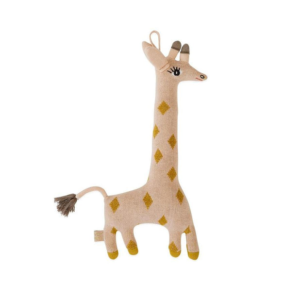 OYOY Darling Cushion Baby Guggi Giraffe - Rose / Amber