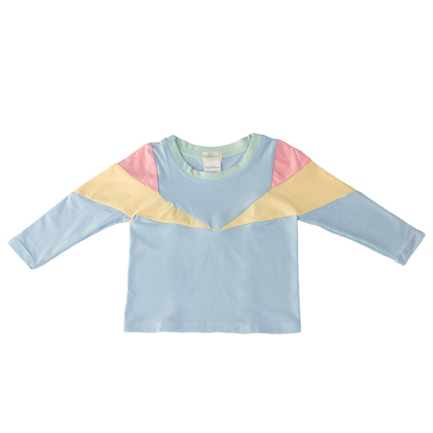 pacific rainbow girls aprila pastel blue rash vest