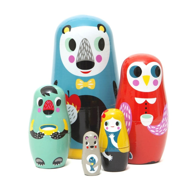Petit Monkey Nesting Dolls - In the Woods