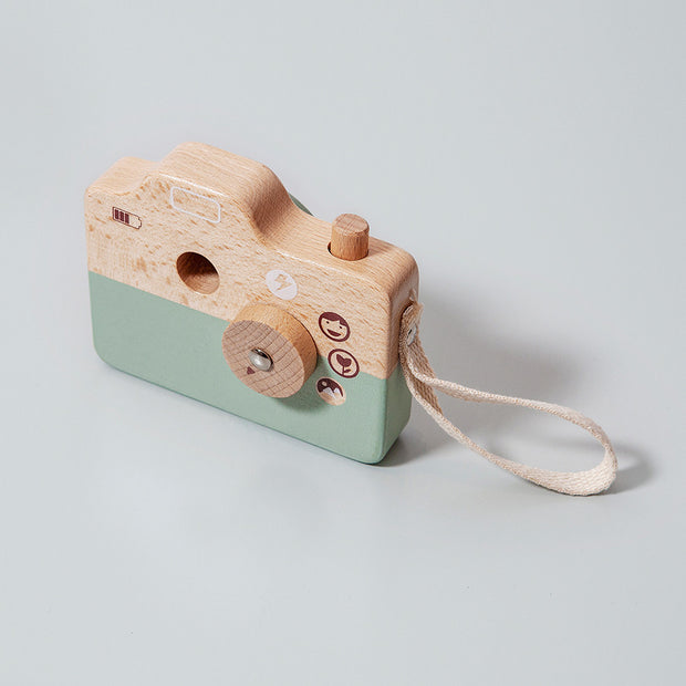 Petit Monkey Wooden Camera - Blue