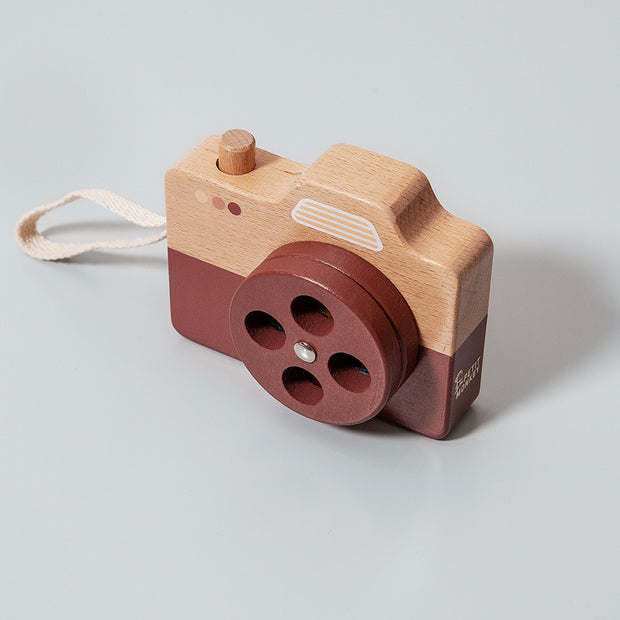Petit Monkey Wooden Camera - Brown