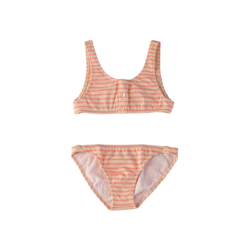pacific rainbow girls Salome pink stripy 2 piece bikini