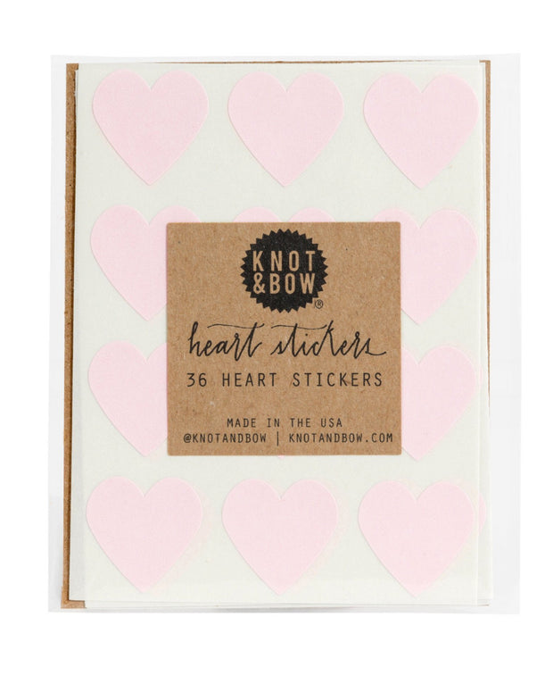 Knot & Bow Pink Heart Stickers