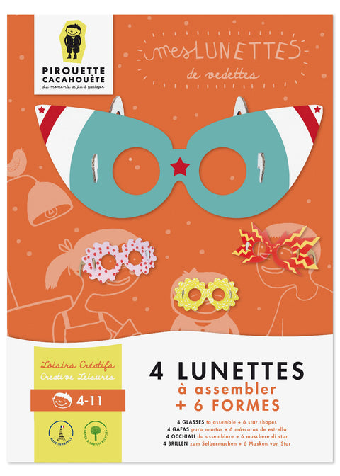Pirouette Cacahouète Creative Kit - 4 Glasses to Assemble