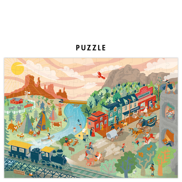 Pirouette Cacahouète Puzzle - Back to The Wild West