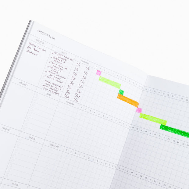 project plan page in project planner