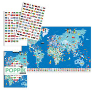 Poppik Discovery Sticker Poster Flags of the World