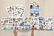 Poppik Discovery Sticker Poster - Timeline of World History