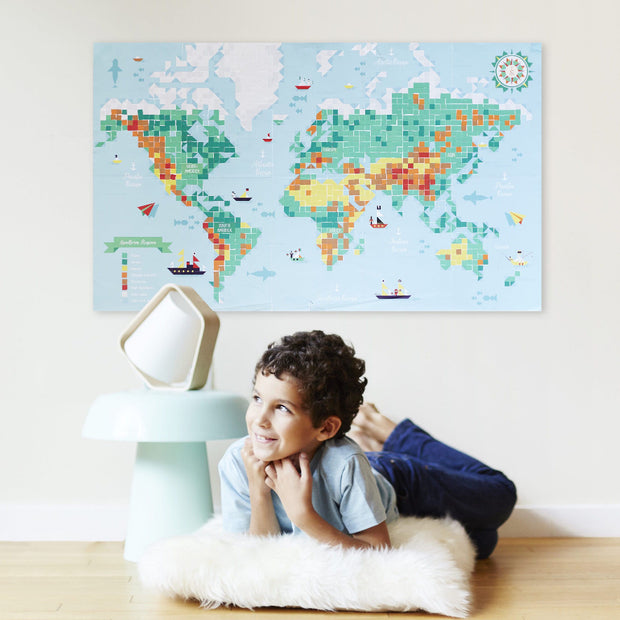 Poppik Creative Sticker Poster - World Map
