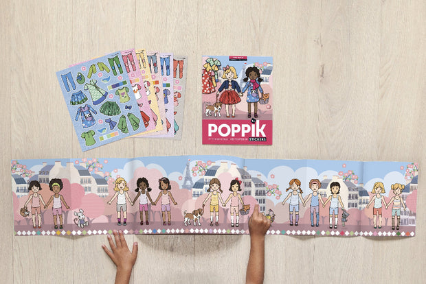 Poppik Sticker Panoramas - Girl Fashion