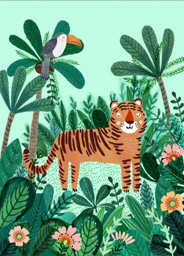 Petit Monkey Postcard - Tiger & Toucan
