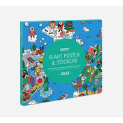 Omy Giant Poster & Stickers atlas