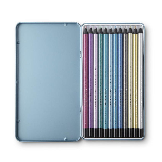 printworks 12 metallic colouring pencils