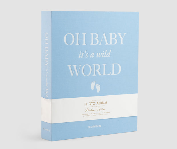 Printworks Large Coffee Table Photo Album in blue - Oh Baby It's a Wild World
