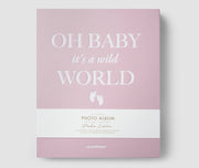 Printworks Large Coffee Table Photo Album in pink - Oh Baby It's a Wild World