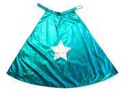 Ratatam reversible Hero Cape with star in silver and green