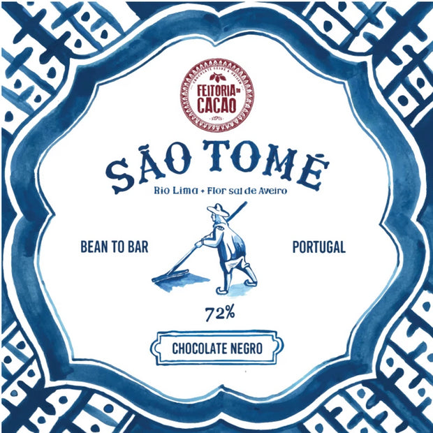 Feitoria Do Cacao Santo Tomé 72% Barra de chocolate negro